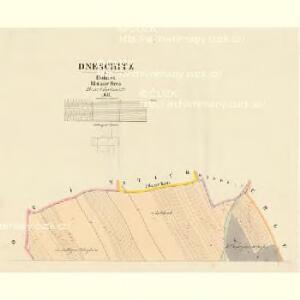 Dneschtitz - c1154-1-001 - Kaiserpflichtexemplar der Landkarten des stabilen Katasters