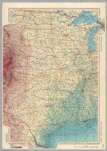 United States of America - Central.  Pergamon World Atlas.