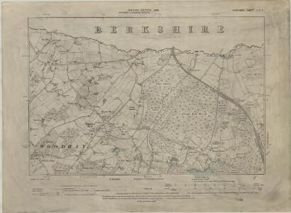 Hampshire & Isle of Wight II.SW - OS Six-Inch Map