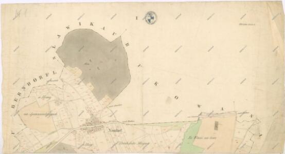 Katastrální mapa obce Dlažova