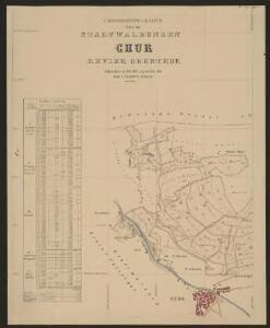 Uebersichts-Karte über die Stadtwaldungen Chur