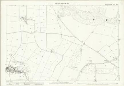 Gloucestershire XXVIII.3 (includes: Naunton; Upper Slaughter) - 25 Inch Map