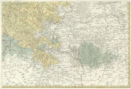 Landgrafiatvs Hasso-Cassellanvs typo geographico quatuor Foliorum expressus Cura Homannianorum Heredum Norimb: 1761
