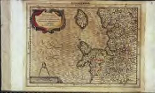 Westmorlandia, Lancastria, Cestria, Caernarvan, Denbigh, Flint, Merionidh, Montgomery, Salopia cum insulis Mania, et Anglesey