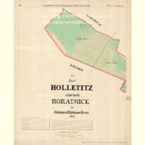 Holletitz - c1937-1-001 - Kaiserpflichtexemplar der Landkarten des stabilen Katasters