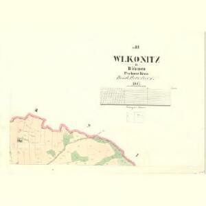 Wlkonitz - c8694-1-003 - Kaiserpflichtexemplar der Landkarten des stabilen Katasters