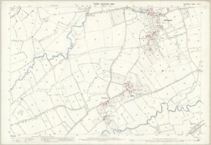 Somerset LXIV.4 (includes: Ansford; Castle Cary; Ditcheat; Lamyat) - 25 Inch Map