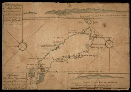 Map Of Tobago Showing Native Dwellings