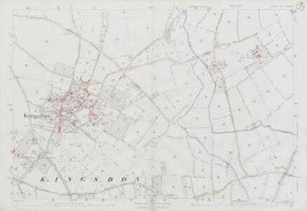 Somerset LXXIII.8 (includes: Charlton Mackrell; Kingsdon; Yeovilton) - 25 Inch Map