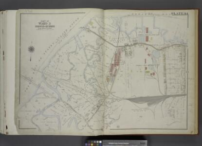 Part of Ward 3. [Map bound by State Line, Richmond    Terrace (Shore RD), Arlington Ave, Baltimore and Ohio Railroad, Western Ave,     Washington Ave, Old Place Creek]
