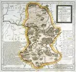 Mapa geográfico del partido de Toro