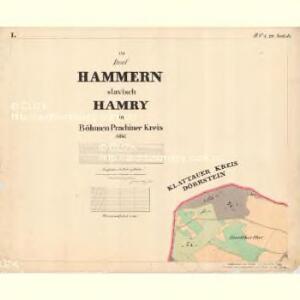 Hammern - c1768-1-001 - Kaiserpflichtexemplar der Landkarten des stabilen Katasters