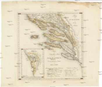 Partie de la Dalmatie du sud est avec l'Albanie