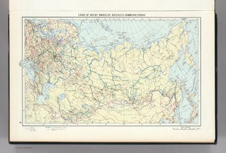 9.  Union of Soviet Socialist Republics, Communications.  The World Atlas.