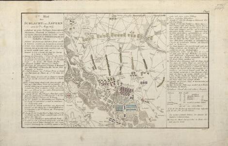 1tes Blat der Schlacht bei Aspern am 21ten Maj, [1]809