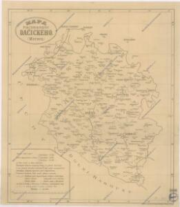 Mapa hejtmanství Dačického