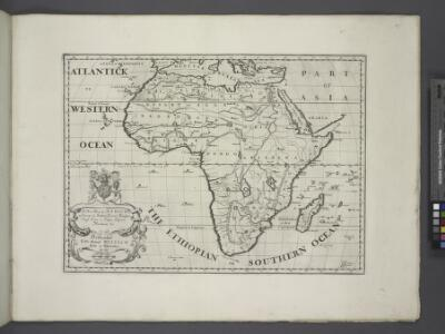 A new map of Africk shewing its present general divisions, chief cities or towns, rivers, mountains &c.