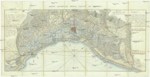 Mappa generale delle lagune di Venezia