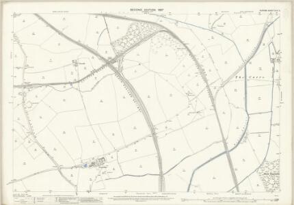 Durham XLIII.3 (includes: Bishop Middleham; Bradbury; Chilton; Mainsforth; Sedgefield; Woodham) - 25 Inch Map