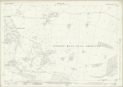 Oxfordshire XXXIV.13 (includes: Forest Hill with Shotover; Oxford) - 25 Inch Map