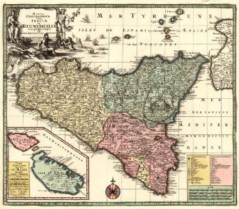 Mappa Geographica totius Insulae et Regni Siciliae cura graphio et impensis