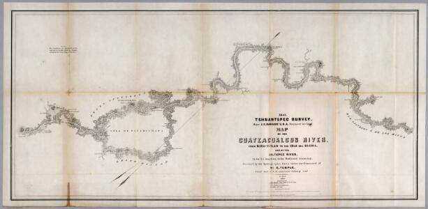 No.5. Map of the Coatzacoalcos River from Mina-titlan to the Isla del Suchil