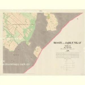 Mosty bei Jablunkau - m1892-1-016 - Kaiserpflichtexemplar der Landkarten des stabilen Katasters