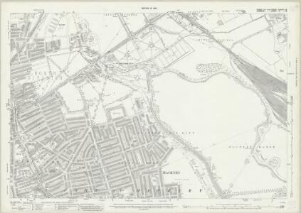 Essex (New Series 1913-) n LXXVII.16 (includes: Hackney; Leyton) - 25 Inch Map