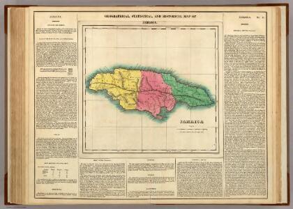 Map Of Jamaica.