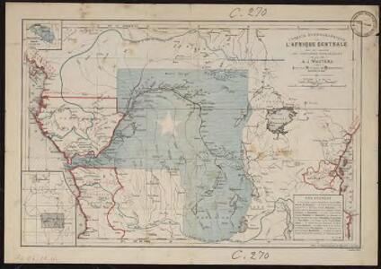 Croquis hydrographique de l'Afrique centrale