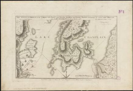 The attack and defeat of the American fleet under Benedict Arnold, by the King's fleet commanded by Capt. Thos. Pringle, upon Lake Champlain, the 11th of October, 1776