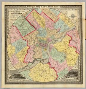 Map ... Around The City Of Philadelphia.