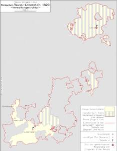 Reuß jüngere Linie Fürstentum Reuß-Lobenstein 1820 Verwaltungsstruktur