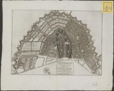 Amsterdams oudste staat en bijzondere vergrootingen, door zevenderlei stippen en streepen afgebeeld
