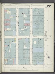 Manhattan, V. 1, Plate No. 22 [Map bounded by W. Houston St., Broadway, Spring St., Wooster St.]