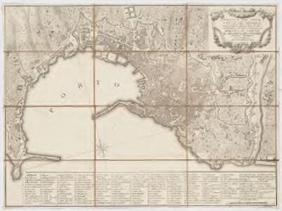 Topografia del porto e cittá di Genova : nel solo ristretto delle sue mura vecchie, coll' indicazione delle chiese, e luoghi principali