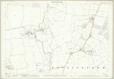 Suffolk LXII.11 (includes: Hundon; Poslingford; Stansfield) - 25 Inch Map