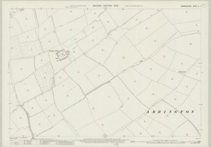 Cambridgeshire LII.4 (includes: Arrington; Croydon; East Hatley) - 25 Inch Map