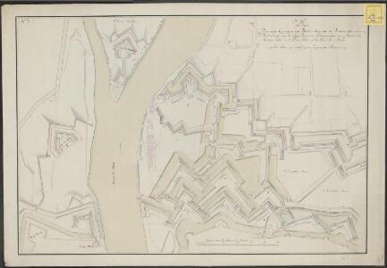 Plan van eenige geprojecteerde werken dienende ter verbeeteringe en versterckinge van het laage front der buitenwercken van Maastricht, begreepen tussen de St. Pieters poort en de rivier de Maas