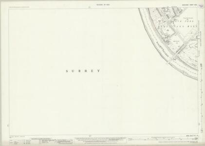 Middlesex XXI.5 (includes: Chiswick St Nicholas; Mortlake; North Sheen; Richmond) - 25 Inch Map