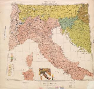 Ethnographical map (Eastern Europe). Northern Italy 1918