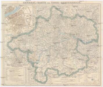 General-Karte von Ober-Oesterreich