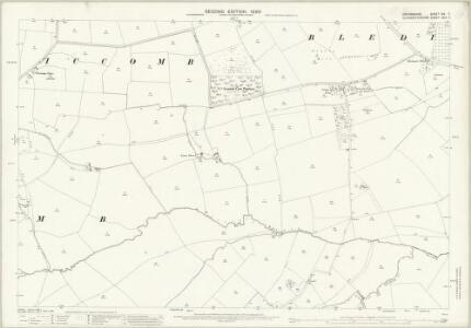 Oxfordshire XIX.7 (includes: Bledington; Icomb; Idbury; Westcote) - 25 Inch Map