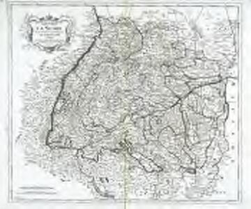 Cours du Danube feuille I contenant la Suabe ou est exactement marquée la succession de Charles VI