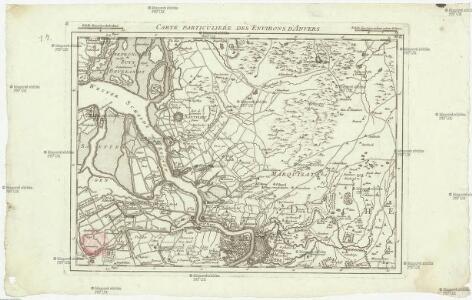 Carte particuliere des environs d'Anvers