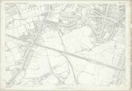 London (First Editions c1850s) LXXXIV (includes: Wandsworth Borough) - 25 Inch Map