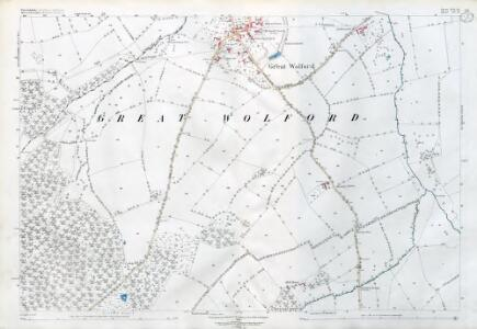 Warwickshire LVI.12 (includes: Barton On The Heath; Great Wolford; Little Wolford; Todenham) - 25 Inch Map