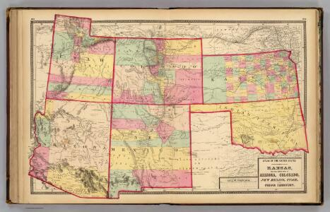 Kansas, and Arizona, Colorado, New Mexico, Utah, and Indian Territory.