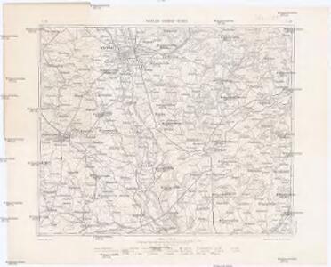 Podrobná mapa Markrabství moravského a Vévodství slezkého