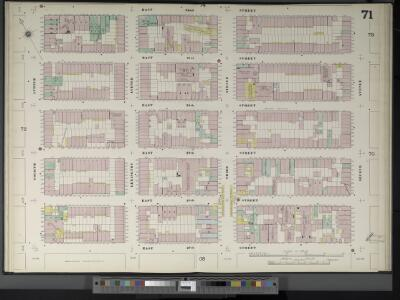 Manhattan, V. 4, Double Page Plate No. 71  [Map bounded by E. 32nd St., 2nd Ave., E. 27th St., 4th Ave.]